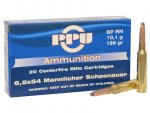 Ammunition-Prvi Partizan  6.5x54mm Mannlicher-Schoenauer 156 Grain Round Nose Soft Point