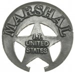 Gjuten Badge-Marshal Indian Territory-Tillverkad i USA
