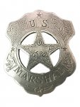 Badge-U.S. Marshall Shield & Star