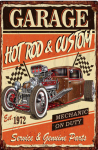 Plåtskylt-Hot Rod & Custom garage