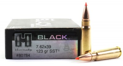 Jaktammunition 7,62x39 SST Black 123 grain