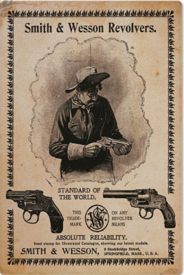 Plåtskylt-Smith & Wesson revolvers